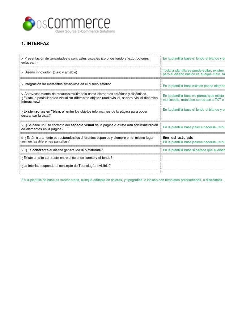 1. INTERFAZ> Presentación de tonalidades u contrastes visuales (color de fondo y texto, botones,            En la plantill...