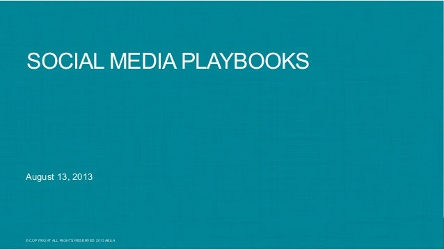 Patricia Tynan: Social Media Playbooks: Why You Need Them Now