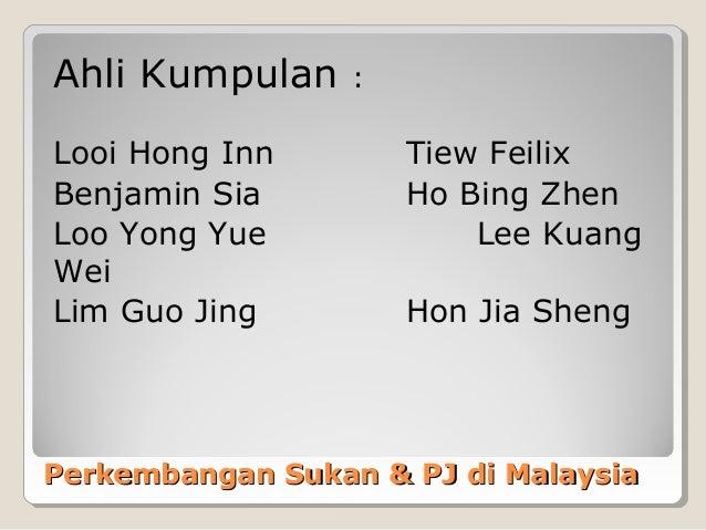 Ahli Kumpulan     :Looi Hong Inn         Tiew FeilixBenjamin Sia          Ho Bing ZhenLoo Yong Yue              Lee KuangW...