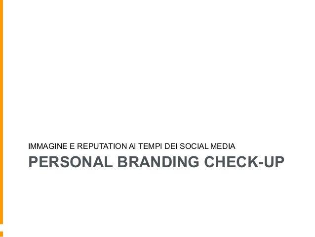 Personal branding & reputation