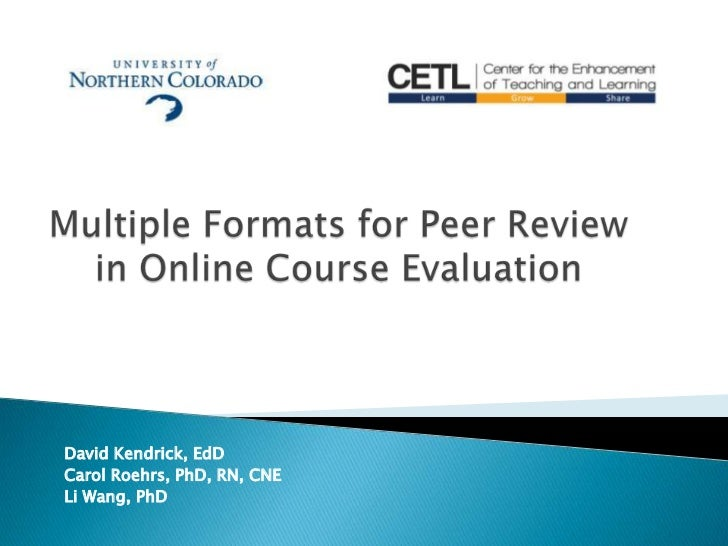 David Kendrick, EdDCarol Roehrs, PhD, RN, CNELi Wang, PhD
