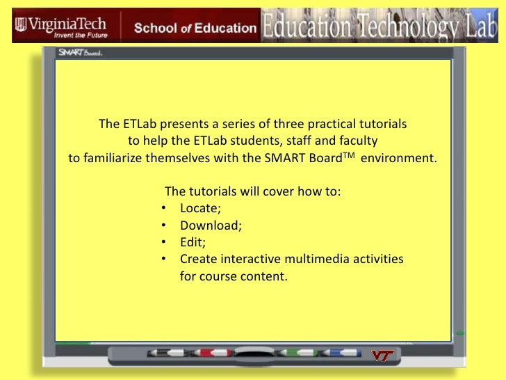 The ETLab presents a series of three practical tutorials <br />to help the ETLab students, staff and faculty  <br />to fam...