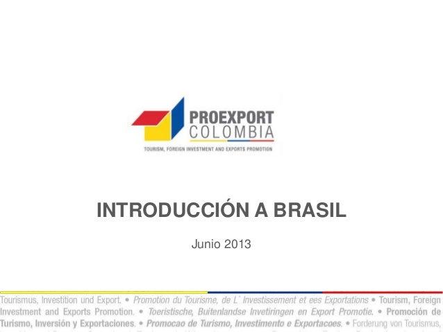 INTRODUCCIÓN A BRASILJunio 2013