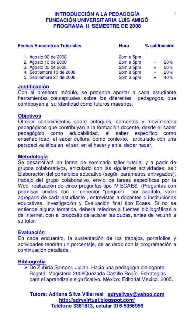 1 programacion introduccion a la pedagogia 2 sem 2008 pdf for Introduccion a la gastronomia pdf