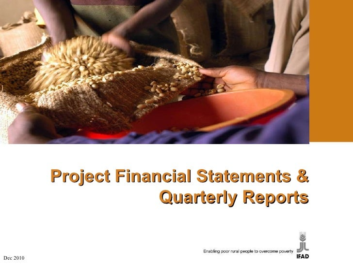 Project Financial Statements & Quarterly Reports Dec 2010