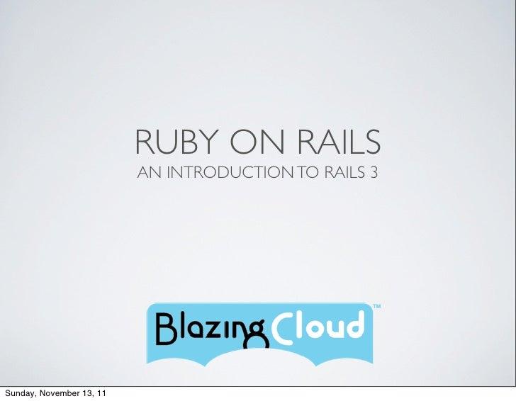 Rails Class Intro - 1