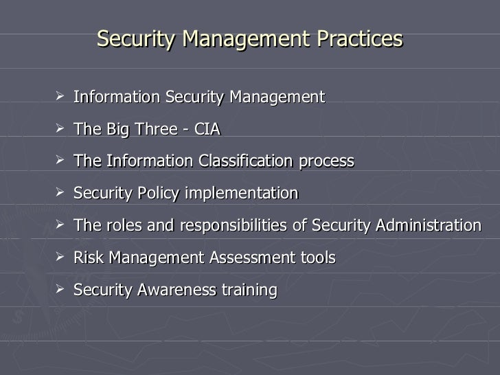 security management practices This key management cheat sheet provides developers with  the objective of data at rest protection security  key management lifecycle best practices.