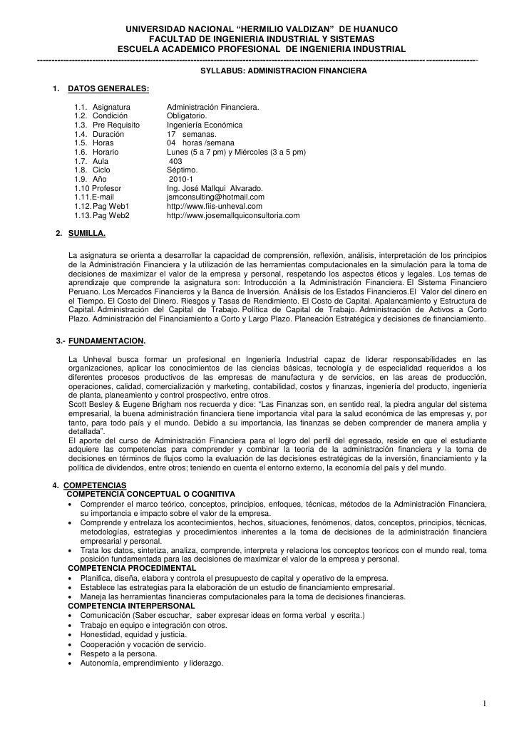 """UNIVERSIDAD NACIONAL """"HERMILIO VALDIZAN"""" DE HUANUCO                                        FACULTAD DE INGENIERIA INDUSTRI..."""
