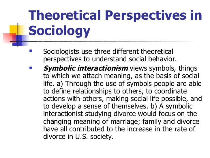 What does sociological approach mean?