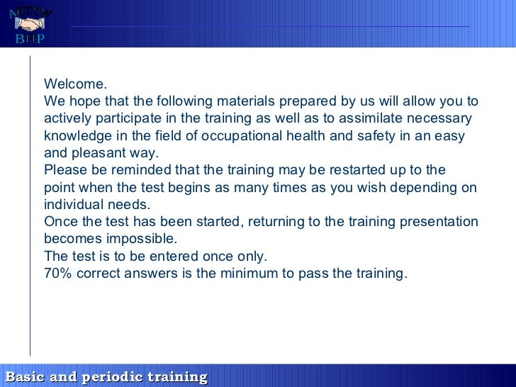 Welcome. We hope that the following materials prepared by us will allow you to actively participate in the training as wel...