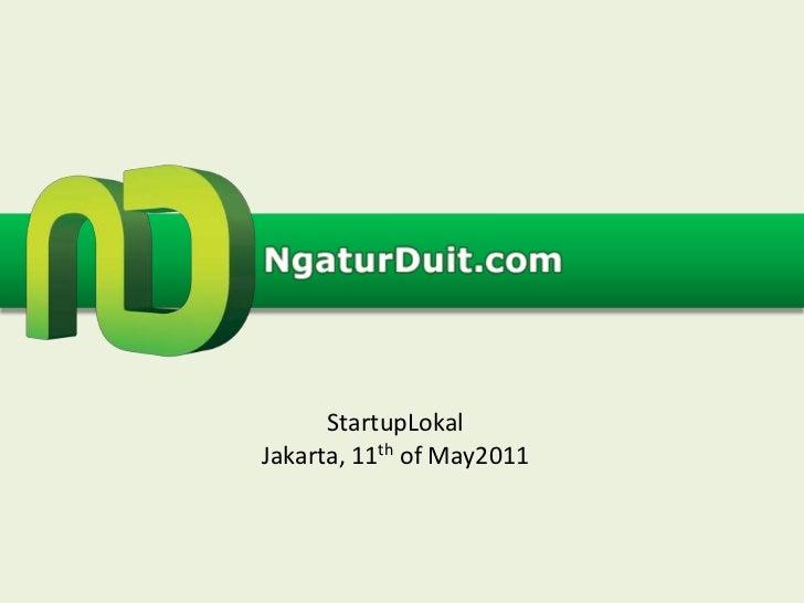 StartupLokalJakarta, 11th of May2011