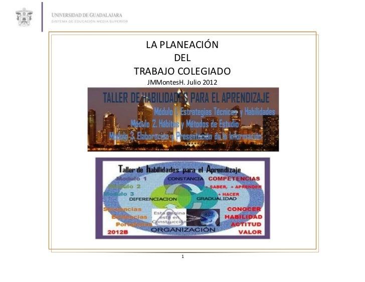 1. taller de habilidades para el aprendizaje plan de clase 2012