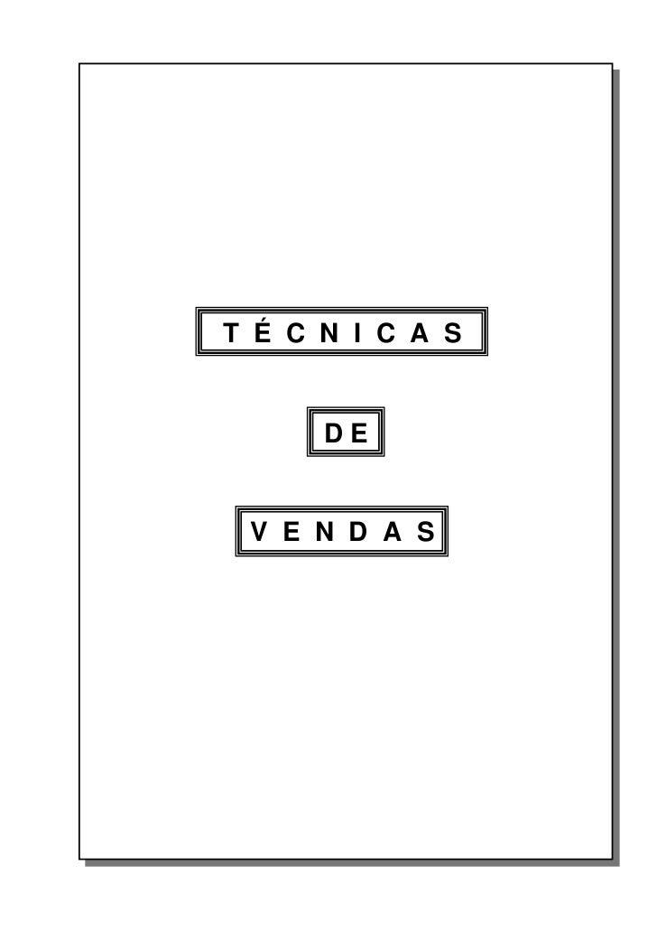 1 - Técnicas de Vendas