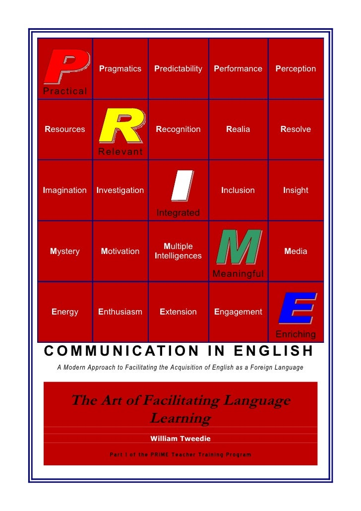 1   The Art of Facilitating Language Learning (AFLL) Course Resource Book