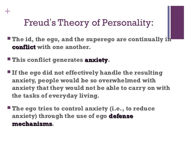 freuds theory Sigmund freud is considered to be the father of psychiatry among his many accomplishments is, arguably, the most far-reaching personality schema in psychology: the freudian theory of personalityit has been the focus of many additions, modifications, and various interpretations given to its core points.