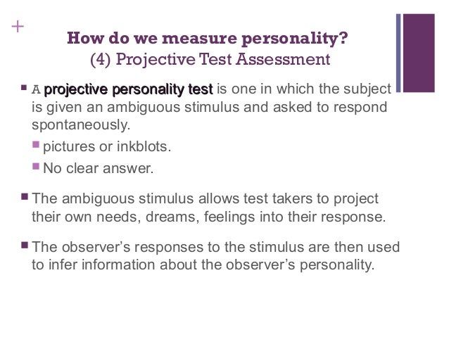 personality test to assess a young