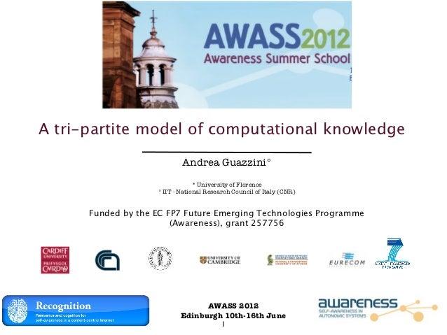 A tri-partite model of computational knowledge                            Andrea Guazzini°                                ...