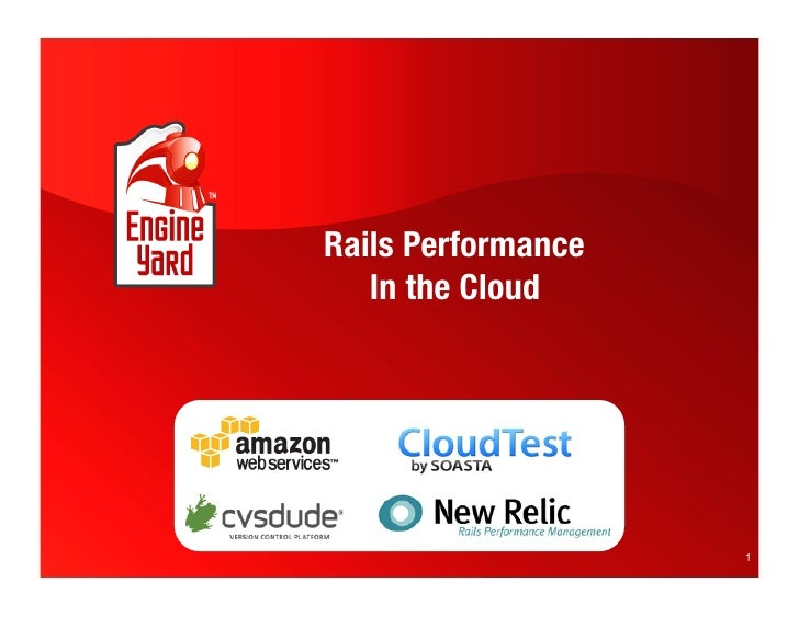 Rails Performance    In the Cloud                          1