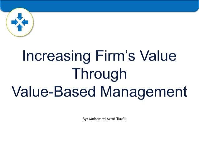 Value-based Management