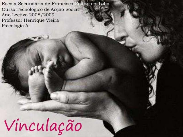 Escola Secundária de Francisco Rodrigues Lobo  Curso Tecnológico de Acção Social  Ano Lectivo 2008/2009  Professor Henriqu...
