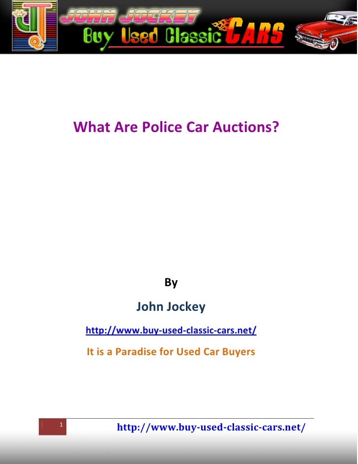 1. wht are police car auctions