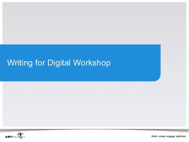 Writing for Digital Workshop