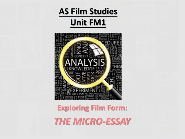 Micro essay film studies