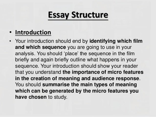 how to write an essay on a film Film analysis essay guidelines what if the movie does not have a play/novel to represent it when writing an analysis for a film asked by anonymous on 4th june, 2009.