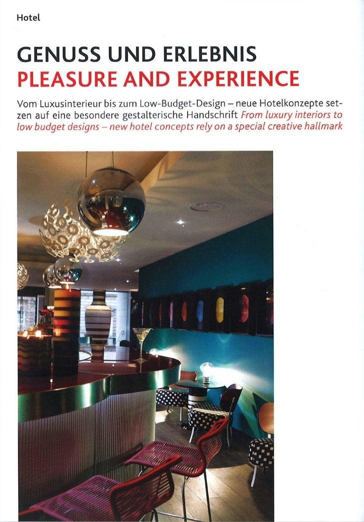 Genuss und Erlebnis - Pleasure and experience