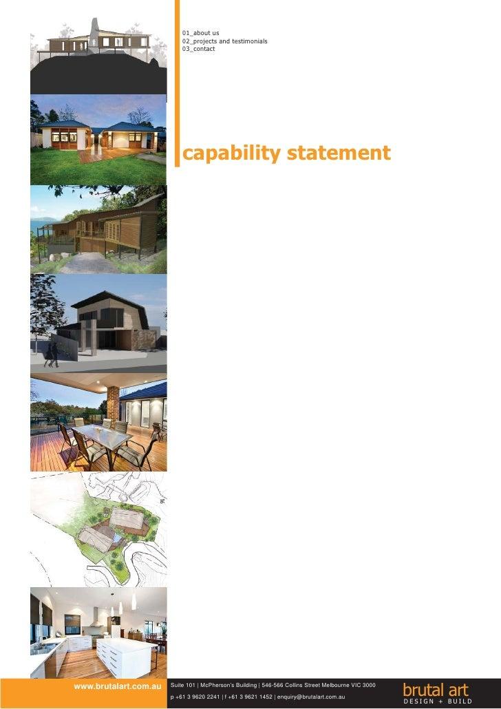 Brutal Art Design + Build Capability Statement