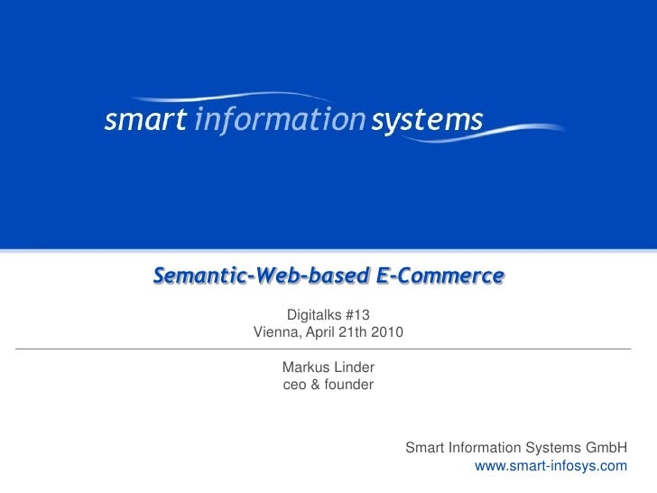 Digitalks #13: Semantic-Web-based E-Commerce
