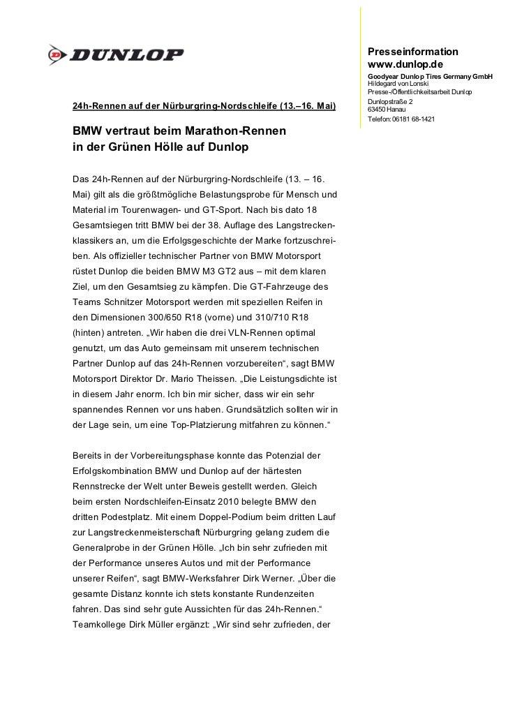 Presseinformation                                                                   www.dunlop.de                         ...