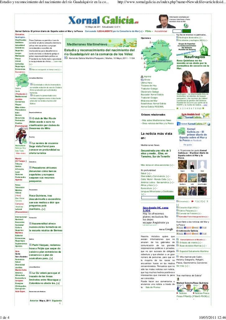 10 05-11 xornal galicia.es  estudio y reconocimiento