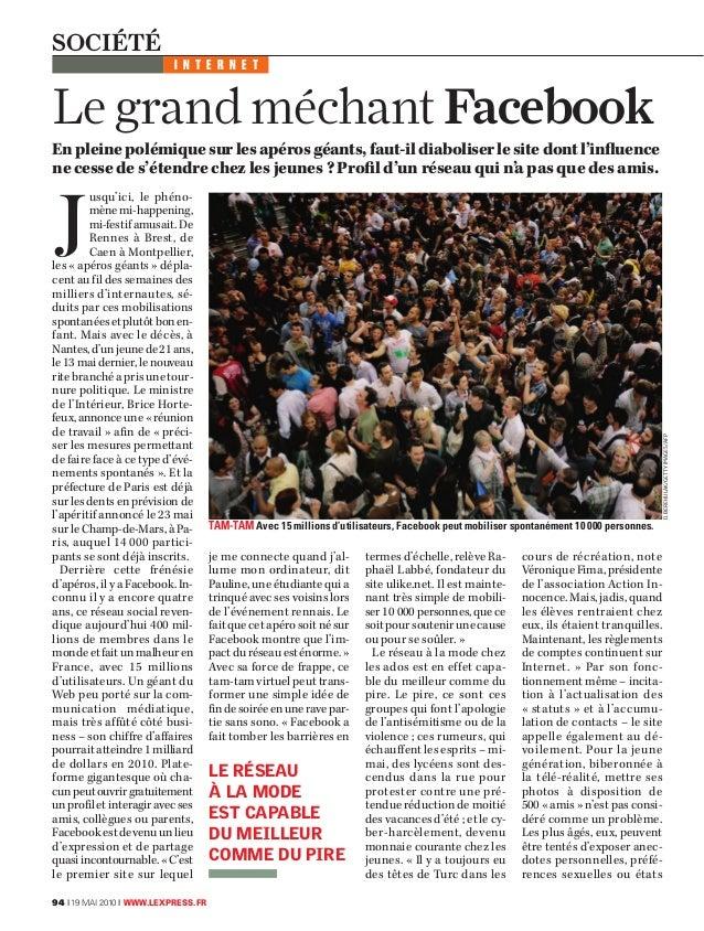 """Le grand méchant facebook"" Interview L'Express"