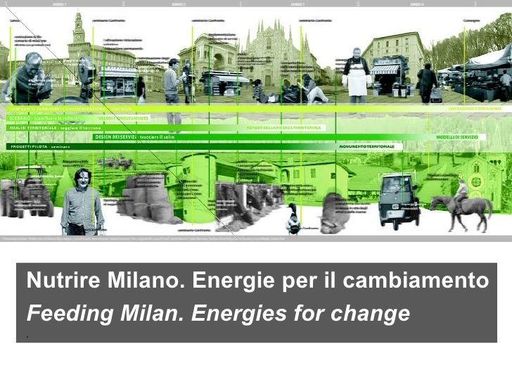 Nutrire Milano. Energie per il cambiamento Feeding Milan. Energies for change .