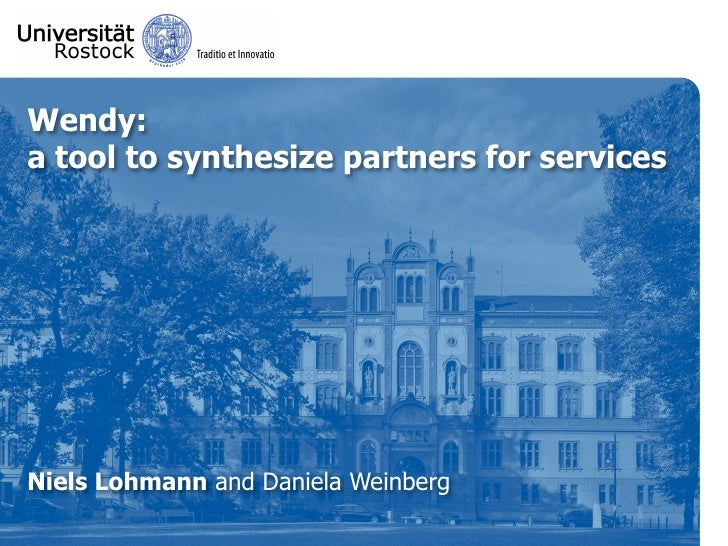 Wendy: a tool to synthesize partners for services