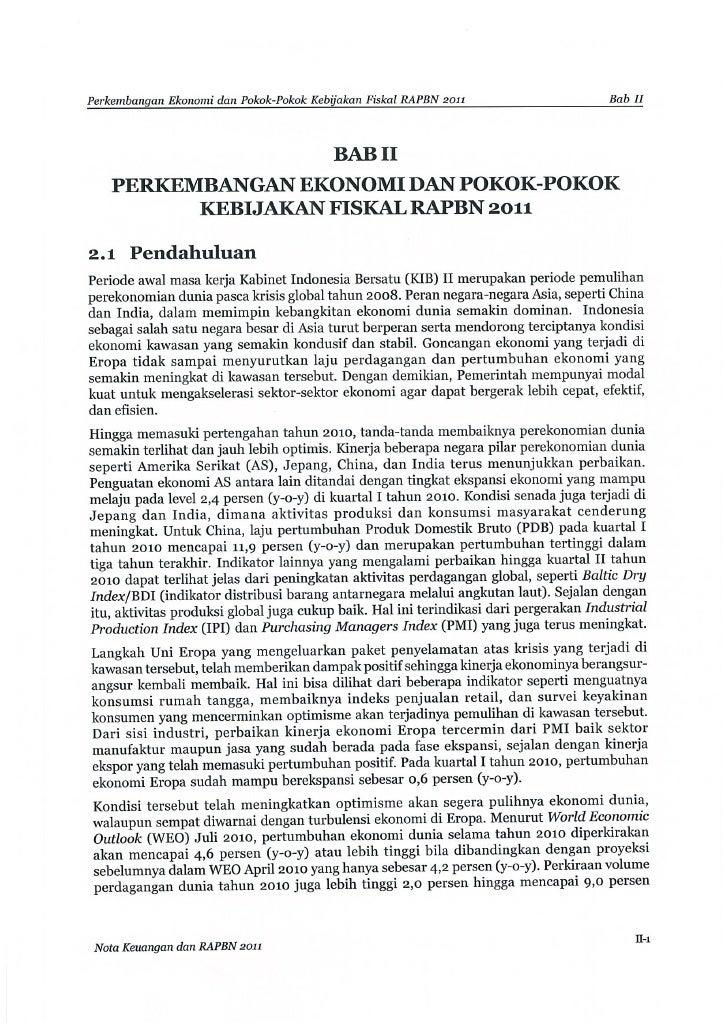 Nota Keuangan dan RAPBN 2011 (Bab II)