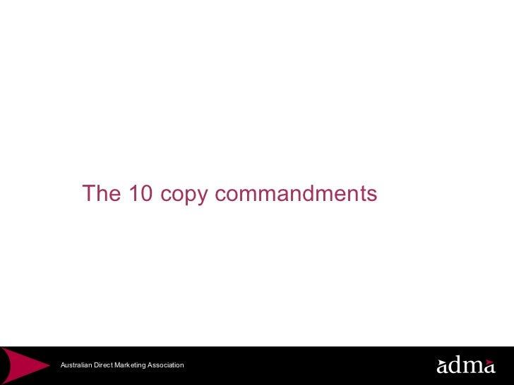 10.0 adma advanced copy copy commandments