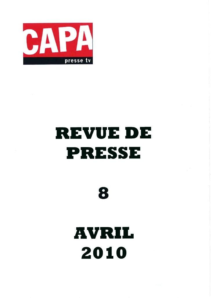 Revue de presse 08/04/10