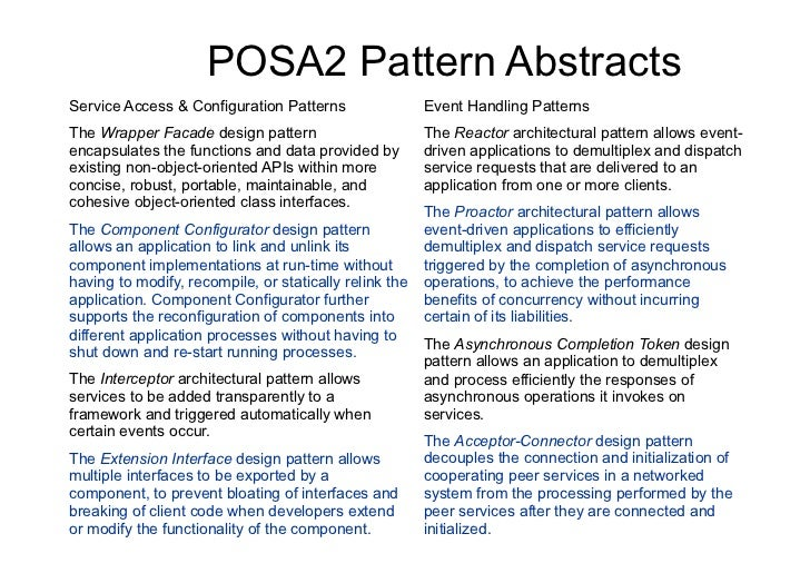 Pattern Architecture Software Architectural Pattern