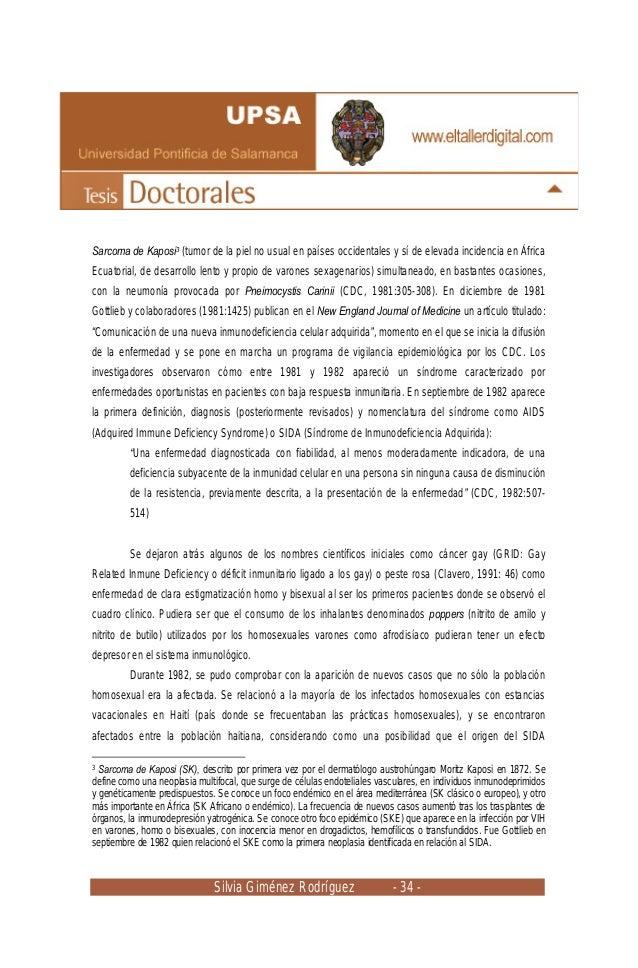 Silvia Giménez Rodríguez - 34 - Sarcoma de Kaposi3 (tumor de la piel no usual en países occidentales y sí de elevada incid...