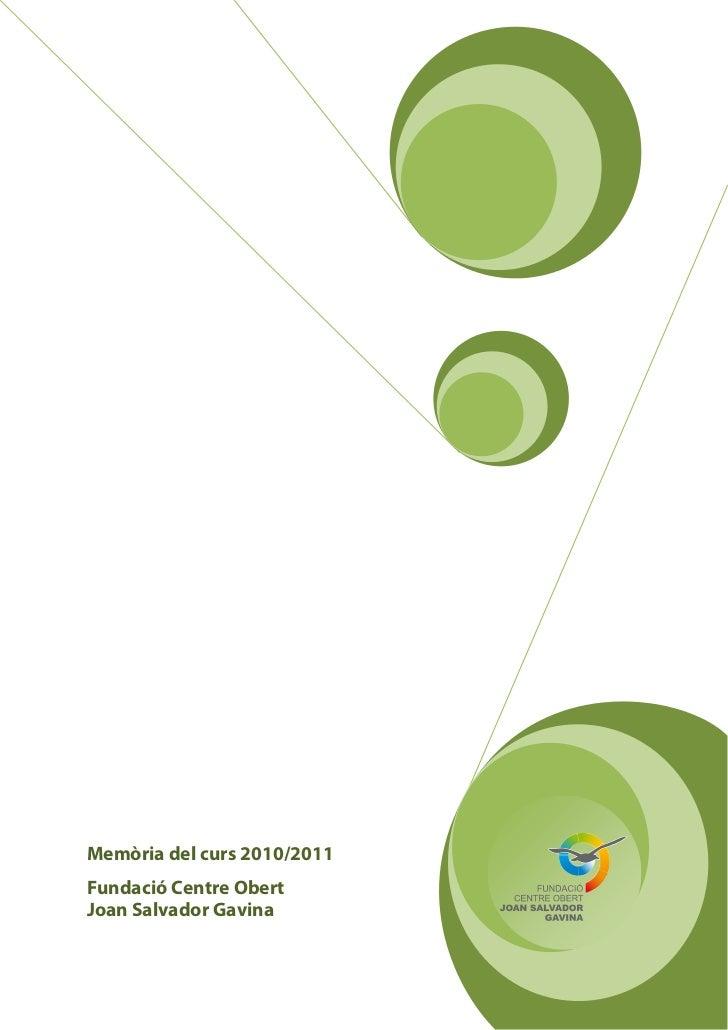 Memoria de la Fundació - 2010/2011