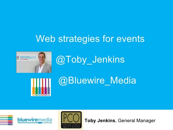 Web Strategies for Events