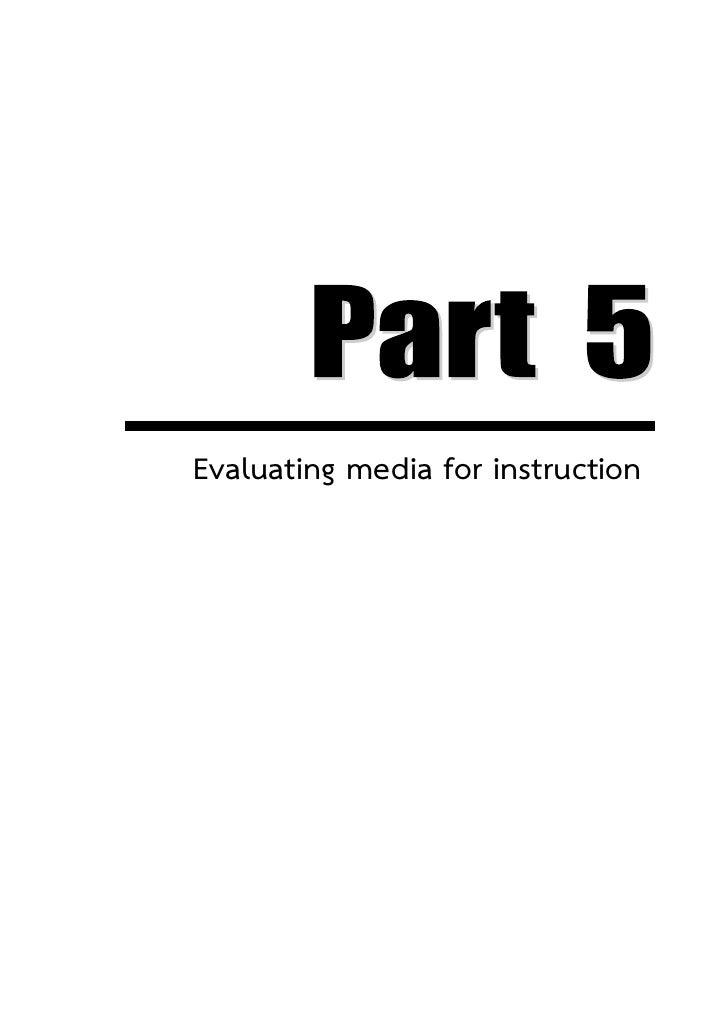 บทที่ 10 การประเมินคุณภาพสื่อการเรียนรู้   154Evaluating media for instruction