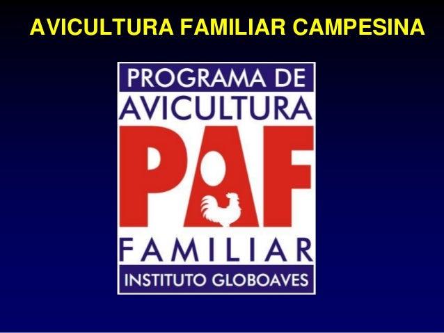 AVICULTURA FAMILIAR CAMPESINA