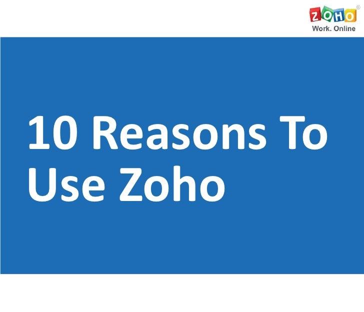 10 Reasons to Use Zoho