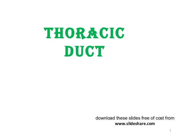 Thoracic DucT 1 download these slides free of cost from www.slideshare.com