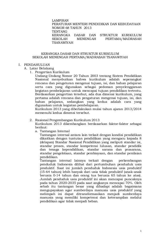 10. b. salinan lampiran permendikbud no. 68 th 2013 ttg kurikulum smp m ts