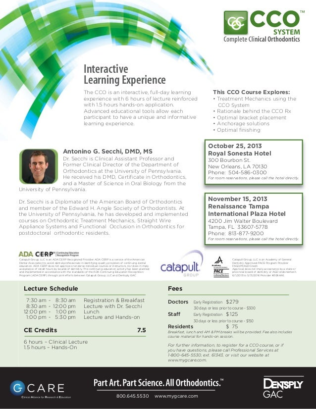 Lecture Schedule 7:30 am - 8:30 am Registration & Breakfast 8:30 am - 12:00 pm Lecture with Dr. Secchi 12:00 pm - 1:00 pm ...