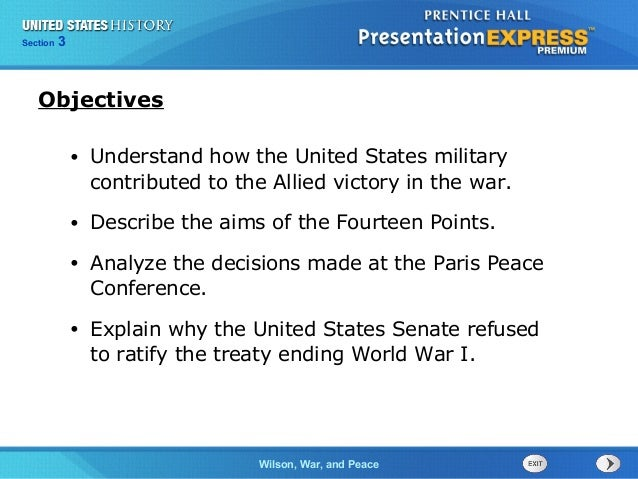 Chapter Section  25 3  Section  1  Objectives •  Understand how the United States military contributed to the Allied victo...